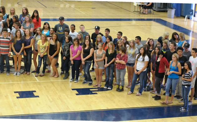 Andrew Samaniego Receives his Academic Letter at Yucaipa High School