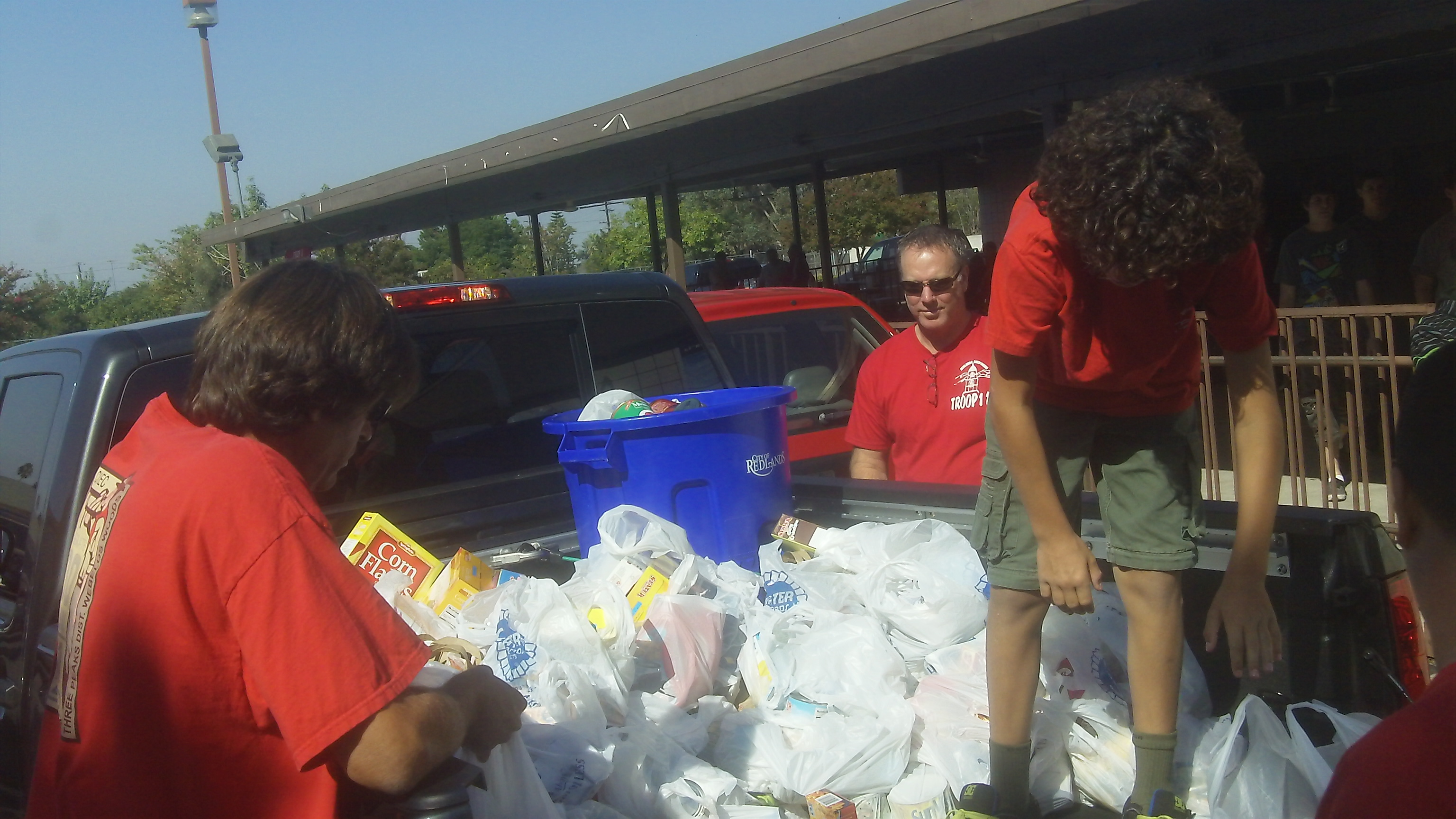 Another truck load of food for Scouting for Food in Redlands
