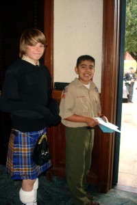 Andrew Samaniego and Joseph helping out at Lincoln Pilgrimage 2009