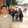 Andrew Samaniego with Boy Scout Troop 11 in Redlands helping with Lincoln Pilgrimage February 2009