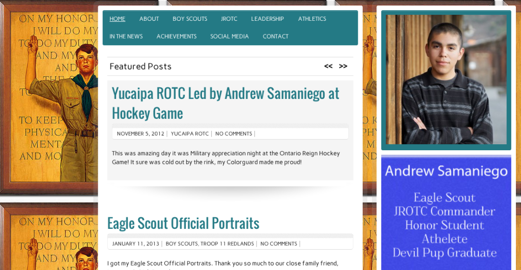 Andrew Samaniego Website