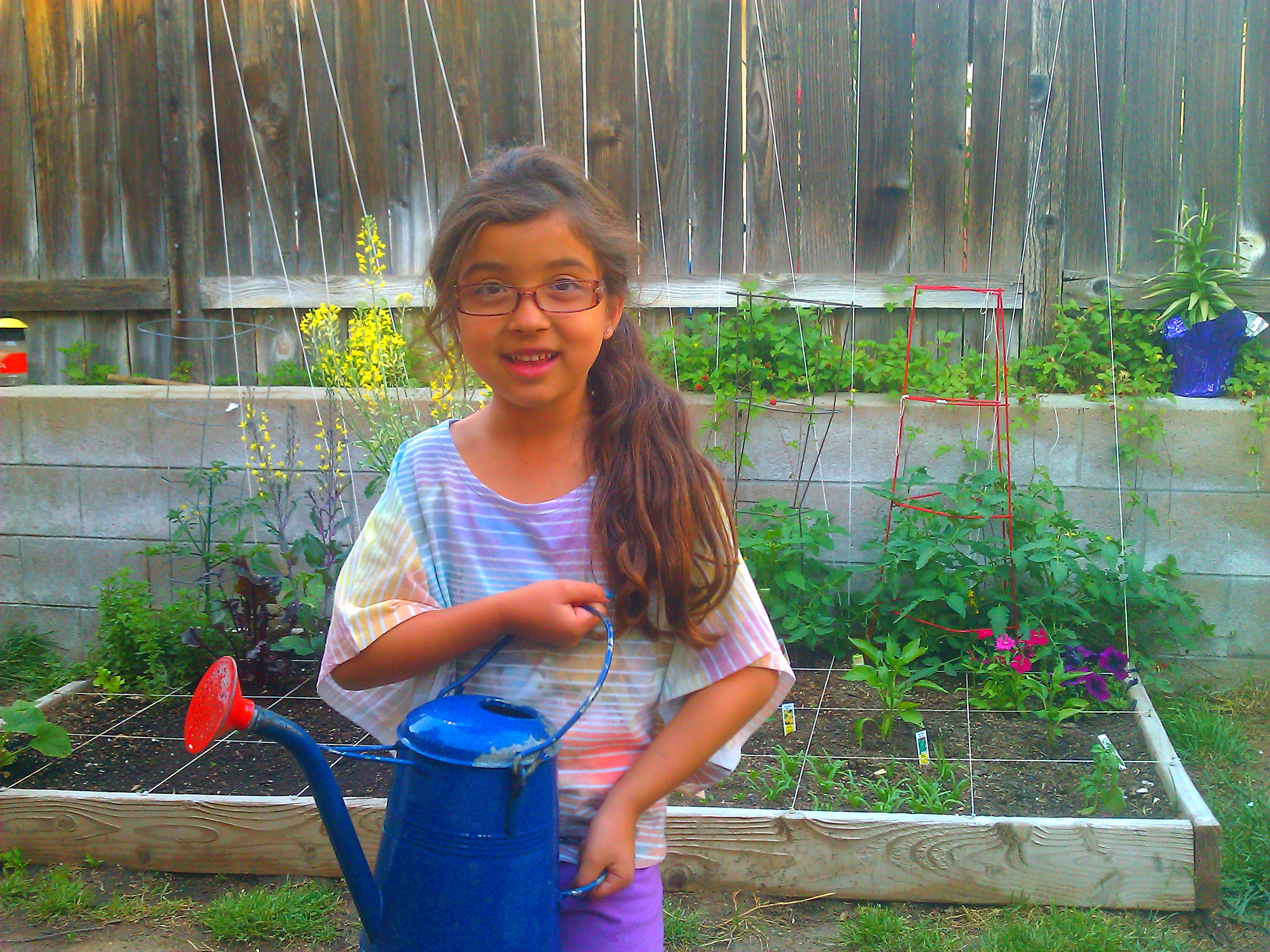 Square Foot Gardening with my daughter Bella (video)
