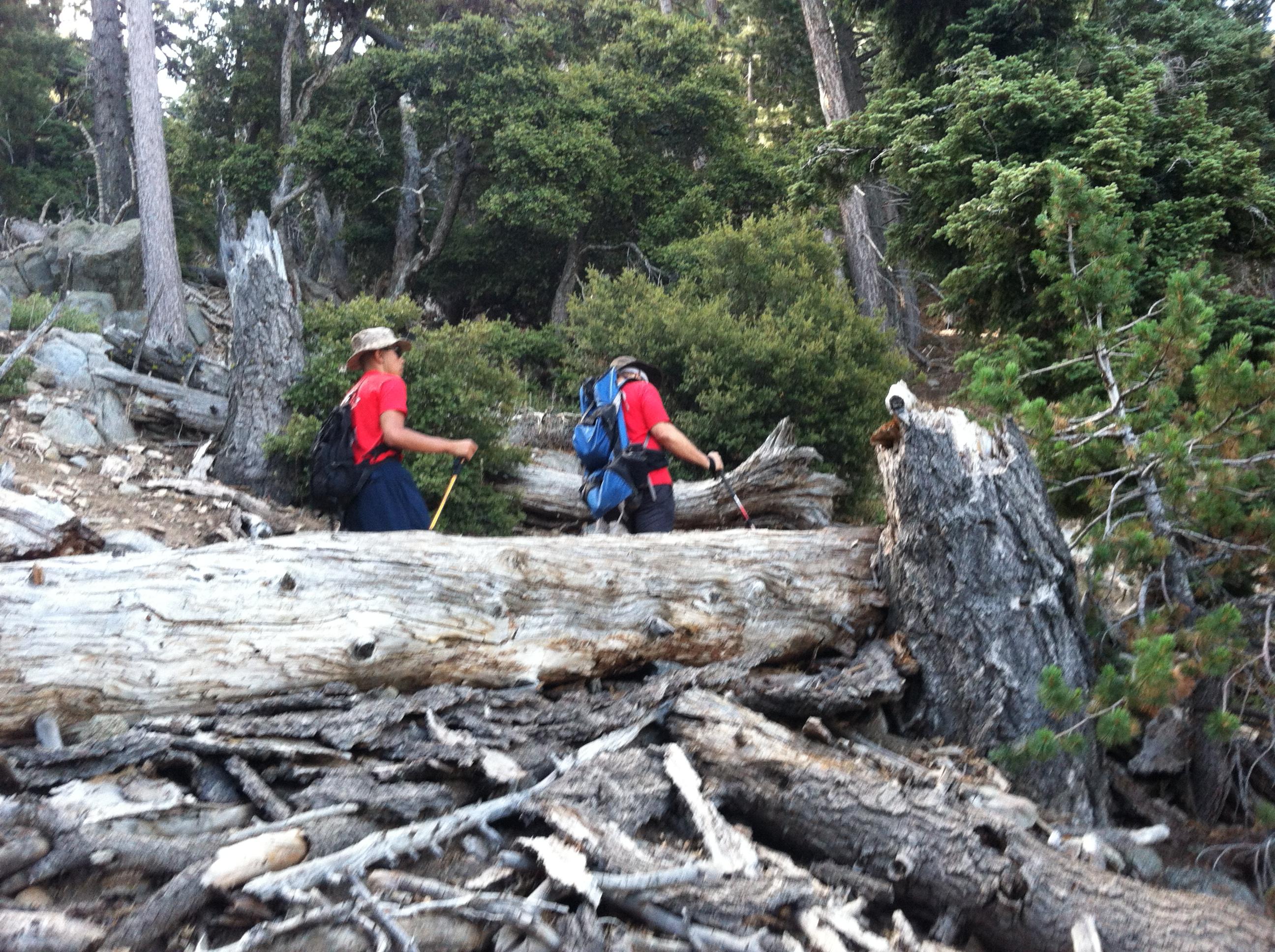 Andrew Samaniego and David Kehrelein Hiking Mazanita Peak