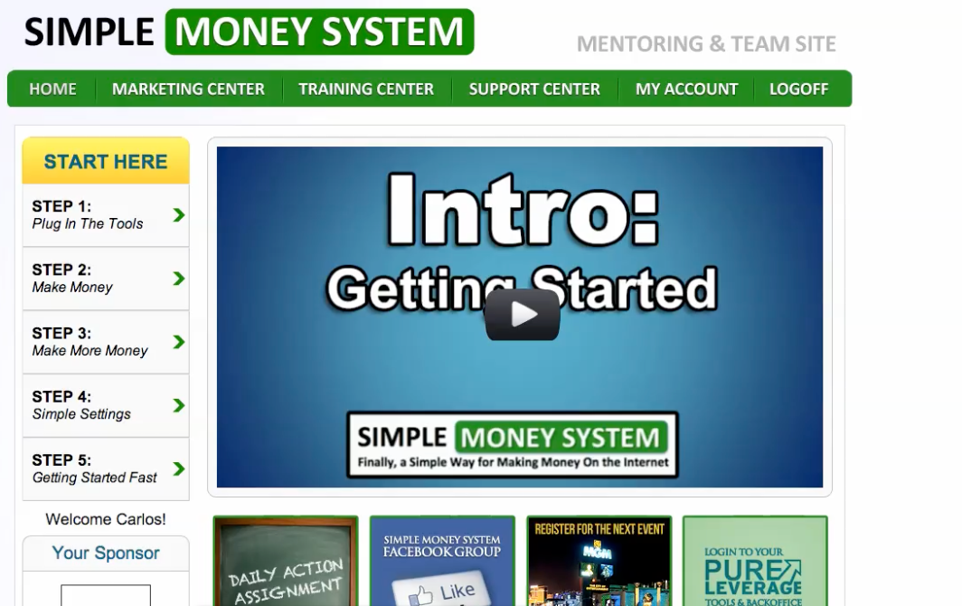 Blog Training – How To Use Simple Money System and Pure Leverage Blog