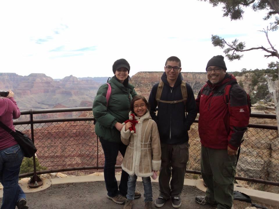 Samaniego Family at Grand Canyon