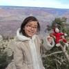 Bella and Red Monkey at Grand Canyon.