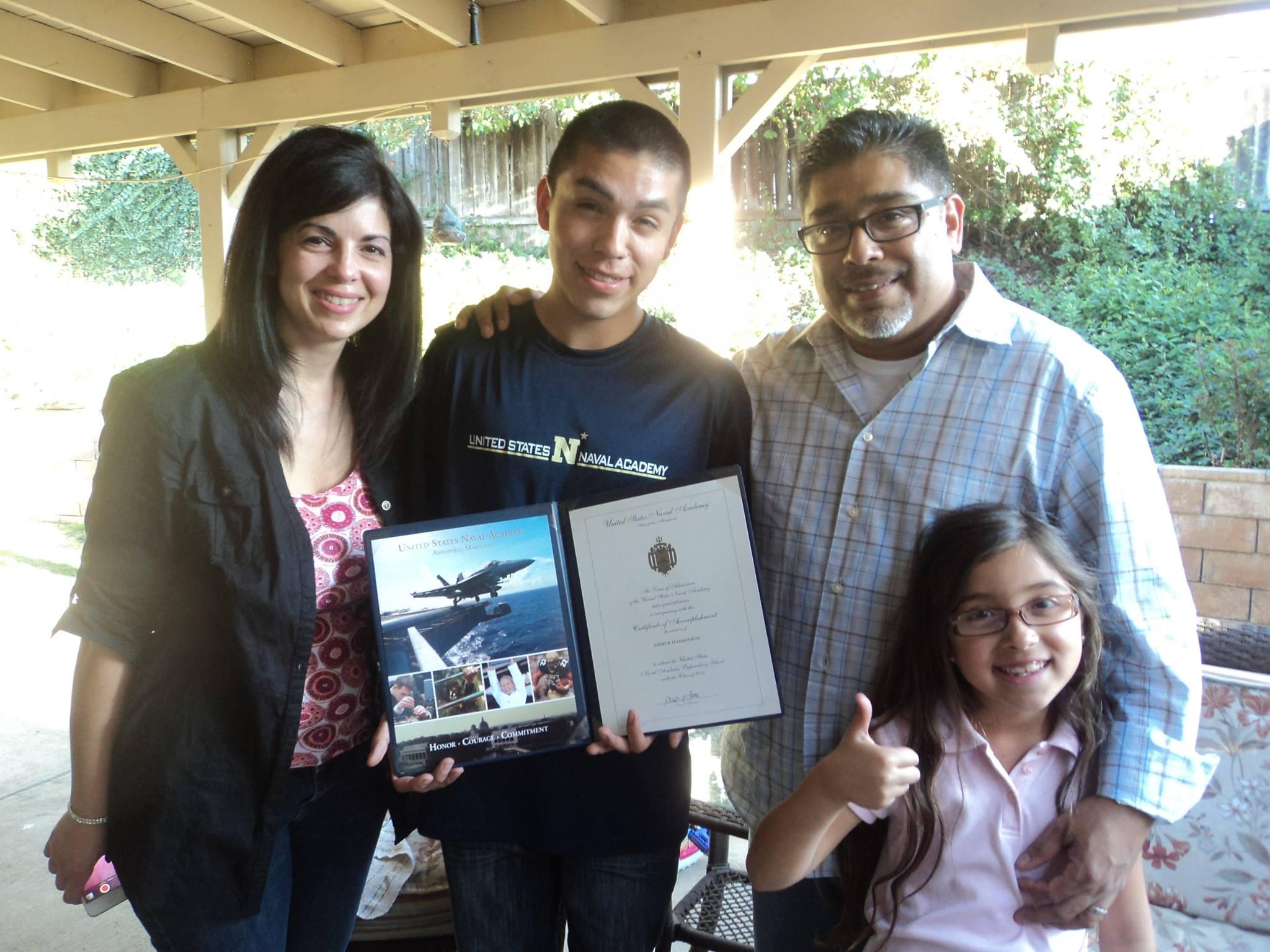 Samaniego Family Proud of Andrew