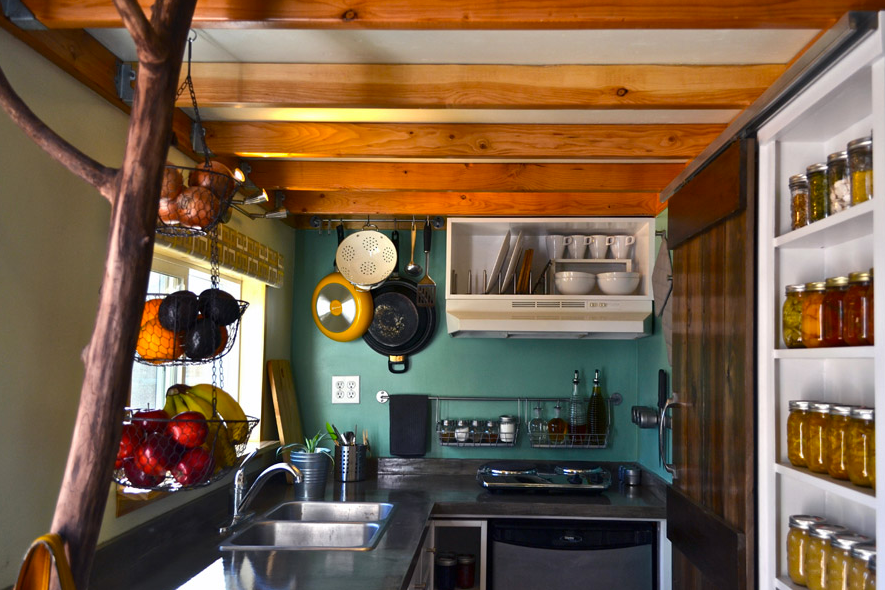 Great kitchen in this tiny home
